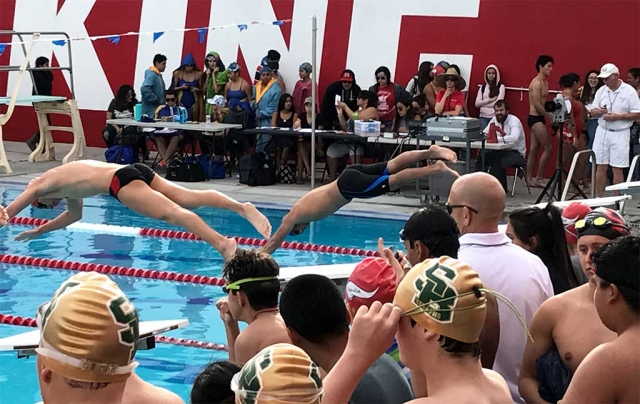 "FHS Swim Team participated in the Viking Relay meet on Friday, March 10 at Hueneme High School. Alone with Fillmore, there were teams from Santa Paula, Channel Island, Carpinteria, St. Bonaventure and Hueneme. JV Girls came in first place overall with 34 points. JV Boys placed 5th with 10 points. Varsity Girls tied for 1st with Hueneme with 95 points. Varsity Boys were 4th with 58 points. In the overall combined team scoring FHS Swim team placed second. ""This was a good experience for our swimmers. I think they all had fun!"" stated Coach Cindy Blatt."