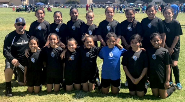 5-0 win Jessica Rodriguez, Kimberly Manriquez, and Athena Sanchez all had a goal, Marlene Gonzalez scored 2 goals. Ashley Hernandez, Jadon Rodriguez, Marlene Gonzalez and Kimberly Manriquez all had Assist. Defense played well and accomplished another shutout, vs Oxnard's Panteras.  Current Record 5-2. U13 Boys score: Lost 4-2 vs Oxnard United. Julio Negrete had both goals Diego Alcaraz 1 assist. Next game this Saturday 9am at Two Rivers park. U13 Girls scores: 0-0 vs Xtreme, 0-2 vs Oxnard Wave.