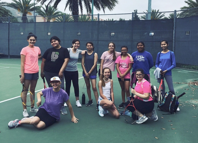 Pictured above are this year's 2019/2020 Fillmore Flashes Girls Tennis Team. Photos courtesy FHS Tennis Coach Lolita Bowman.