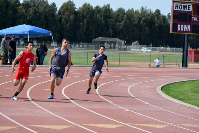 (middle) Tim Luna. (right) Vincent Castillo. Tim placed 1st in both 100m and 200m in the youth division.
