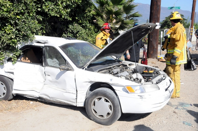 A collision in Bardsdale took place about noon Friday, at the intersection of Sespe Street and Bardsdale Avenue. A Dodge 3500 pickup struck a four-door sedan. One female passenger in the sedan was transported by ambulance to a local hospital. No other personal injuries were reported. The pickup suffered minimal damage to the front end. The car sustained significant damage to the right-center.