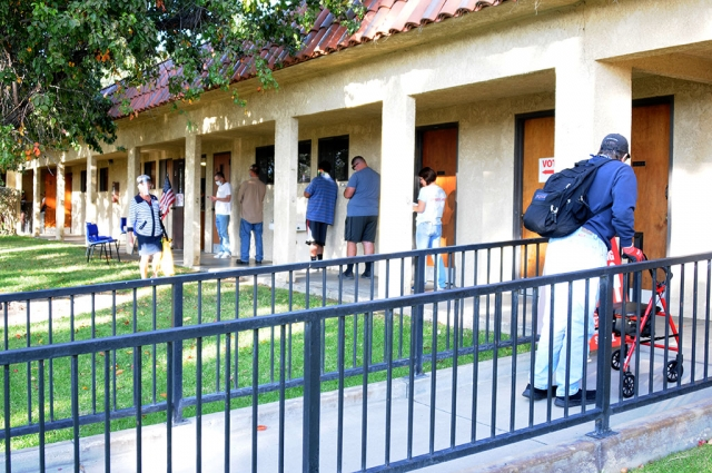 On Tuesday, November 3rd, people lined up outside at Saint Francis Church to cast their vote in the 2020 election, while also following social distancing guidelines.