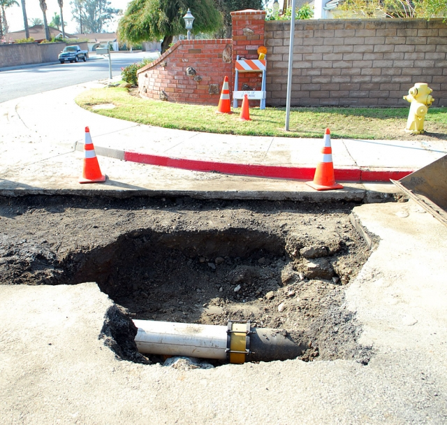 "A water line broke on New Year's Eve at the intersection of 4th Street and Central Avenue. It was repaired overnight and back on line by 8:00 a.m. New Year's Day. The Public Works employees gave up their holiday evening and New Year's Day was shot after working through the night, according to Bert Rapp, Director of Public Works. The water main was installed in the 1920's and was a 10"" diameter cast iron pipe. The city