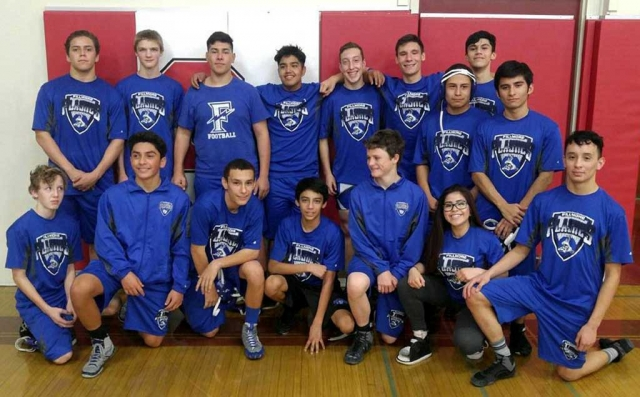 Pictured is this year's Fillmore High School Wrestling team after their league match against Santa Paula, final results TBA.