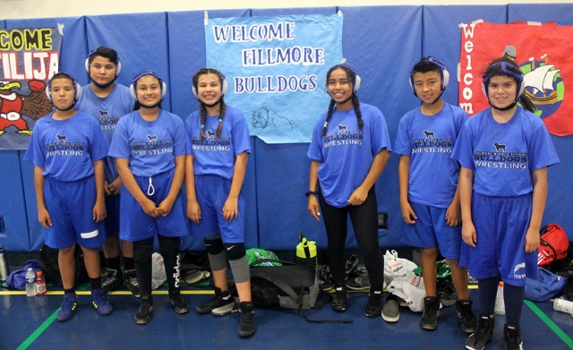 The Fillmore Middle School Wrestling Team recently competed at Isbell Middle School's Annual Takedown Tournament on Thursday, September 19th. Results are as follows: Devin Camacho 0-2, Erik Castaneda 0-2, Delilah Cervantez 1-1, Natalia Herrera 2-0, Amalia Nolan 2-0 , Jonathan Patino: 1-0-1, and Emma Torres: 2-0. The team traveled to Sinaloa Middle School on Wednesday, September 25th for a 5 team dual tournament. Submitted By Coach Michael Torres.
