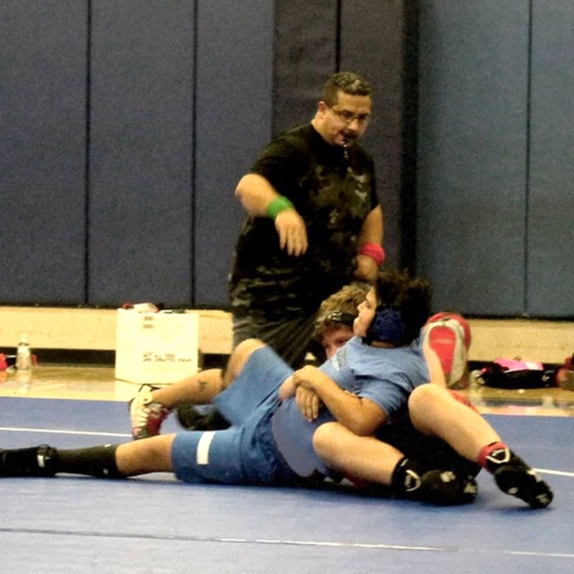 The Fillmore Middle School Bulldogs Wrestling team recently hosted a tournament vs. Balboa, Sinaloa and Soria Middle Schools. Emma Torres Was 2-0, Jonathan Patino was 1-0, Meya Garcia was 1-1, Alexa Martinez was 1-1 and Devin Camacho was 0-3. Pictured above is Jonathan Patino as pins the Balboa wrestler in their match. Photos courtesy Coach Michael Torres.