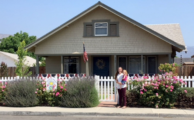 Fillmore Civic Pride announced June 2018 Yard of the Month winners Pam and Dori Klittich who received a $40 gift certificate to Otto & Sons Nursery. Photo courtesy Ari Larson.