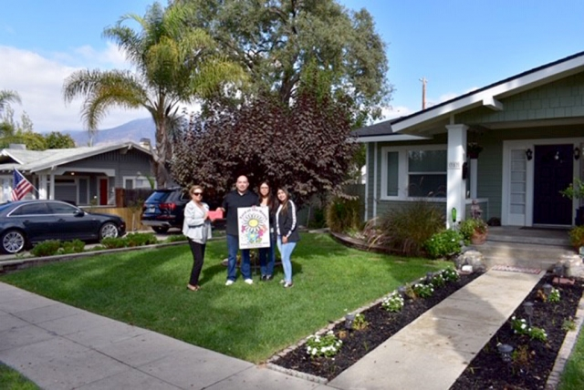 Congratulations to the 2018 September Yard of the Month! The award, presented to them by Ari Larson representing Fillmore Civic Pride went to the Zamora family: Frank, Paola and daughter Natalie at 357 Blaine Ave. in Fillmore. They received a $40 gift certificate courtesy of Otto & Sons Nursery. Their beautiful yard is serene and tranquil. Frank said that a lot of the tranquility comes from the water's soothing sounds. There is a palm tree adding to the ambiance and delicate flowers line the path to their front door. If you would like to nominate a home or are interested in finding out more about Fillmore Civic Pride please contact Ari Larson 805.794.7590 or petenari55@hotmail.com