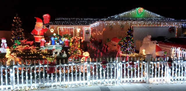 Fillmore Civic Pride awarded this year's December Holiday Yard of the Month to the Perez Family. Their home is located at 910 Sespe Avenue. They have penguins, polar bears and more decorating the yard. The Perez family will receive a $40 gift certificate from Fillmore's Otto & Sons.
