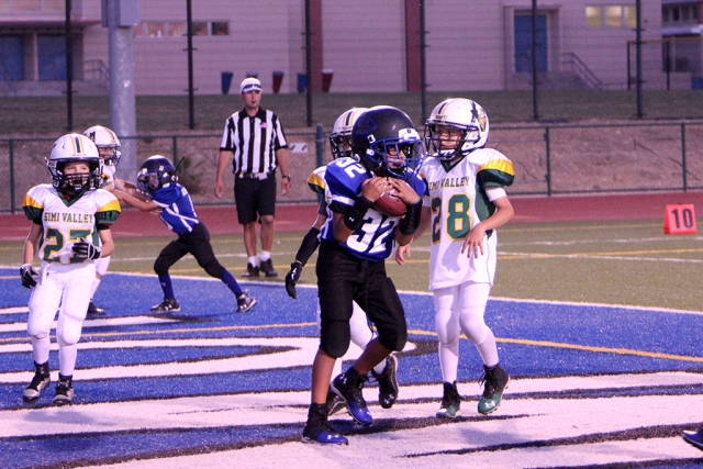 Bears Pee Wee 32 Catches Touchdown pass.