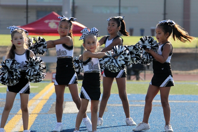 Raiders Bantams Cheer.