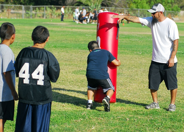 Fillmore Raiders held their football camp last week, at San Cayetano Elementary School. Fillmore Youth Football is still accepting sign ups for the Mighty Might division. If you are 6 or 7 years old, and interested in playing, please contact Jorge Bonilla at 794-5951 for more information.