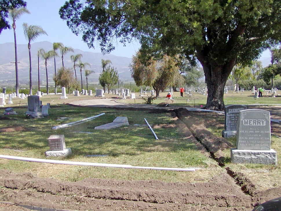 Bardsdale Cemetery is getting a much needed facelift. Sprinkler systems are being installed in the older section of the beautifully-located cemetery, according to new manager Ryan Bobolts.