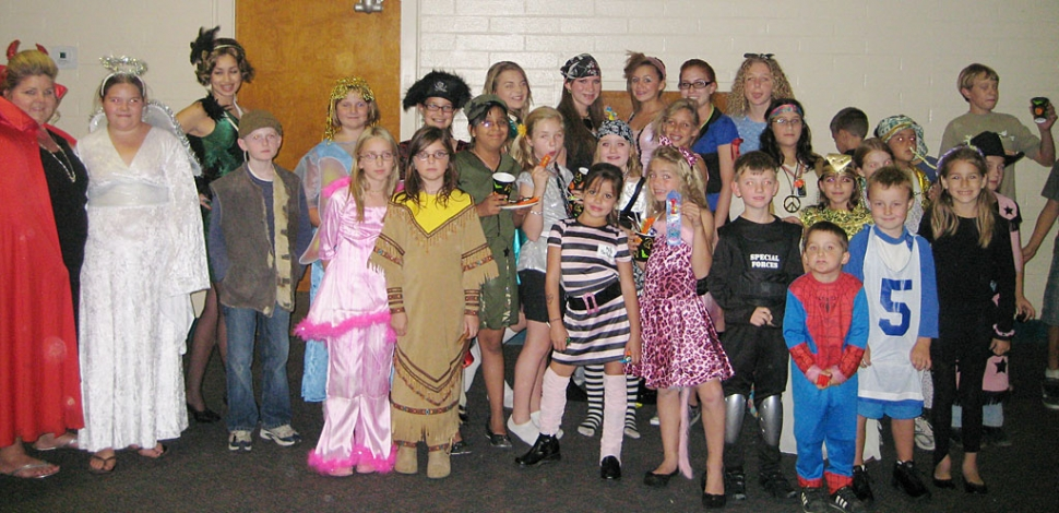 Bardsdale 4-H members got to show off their Halloween costumes at the club's general meeting/Halloween party held on Monday night, Oct. 27. Fun games and lots of candy were enjoyed by the enthusiastic crowd.