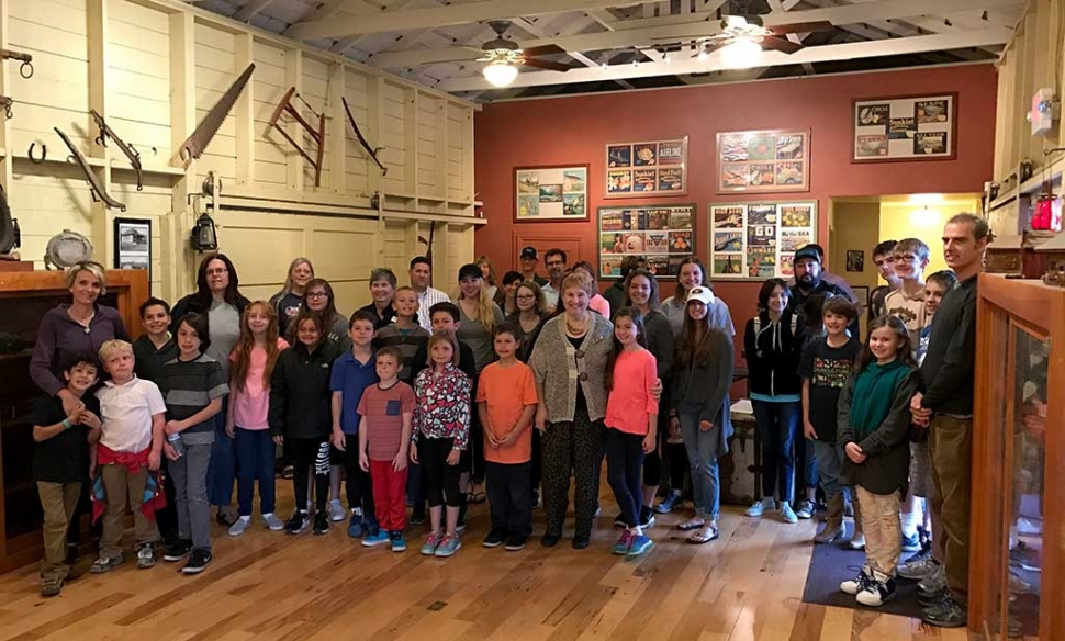 Bardsdale 4H took a tour of the Fillmore Historical Museum for their March meeting. Thanks to Martha Gentry, director, and her docents for spending a Monday evening teaching us about the history.