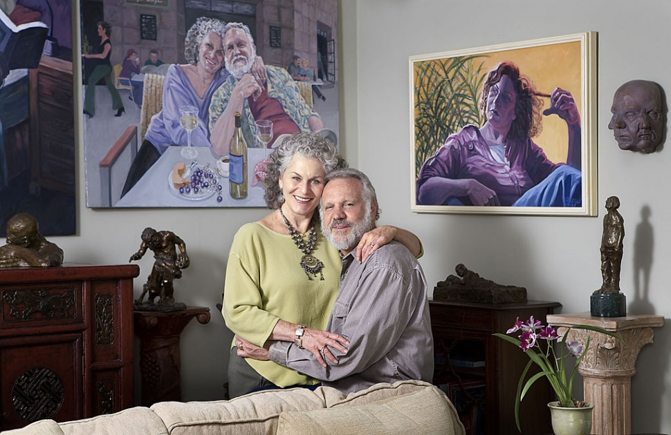 Portrait of Richard and Alice Matzkin by Donna Granata, 2008 FOTM Portrait Series.