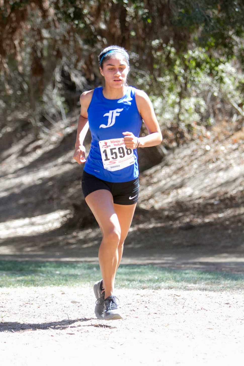 Fillmore High Cross Country's Andrea Marruffo wins the girls frosh soph race at the Bellamarine Jefferson Invitational.
