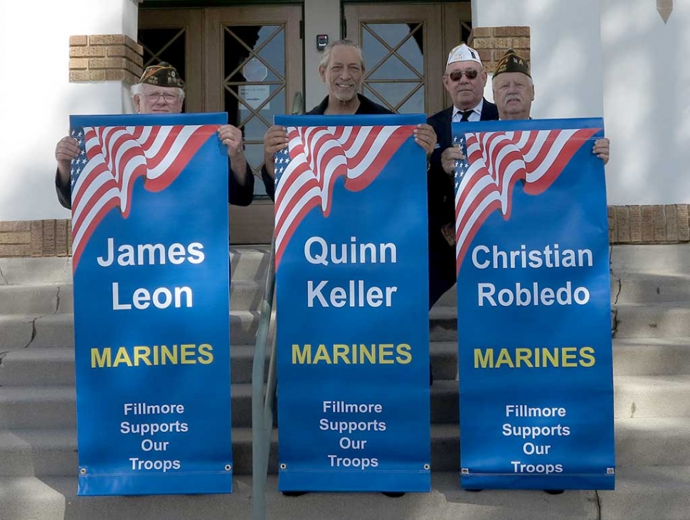 Early in March new banners were presented for hanging: James Leon-Marines; Quinn Keller-Marines, and Christian Robledo-Marines.