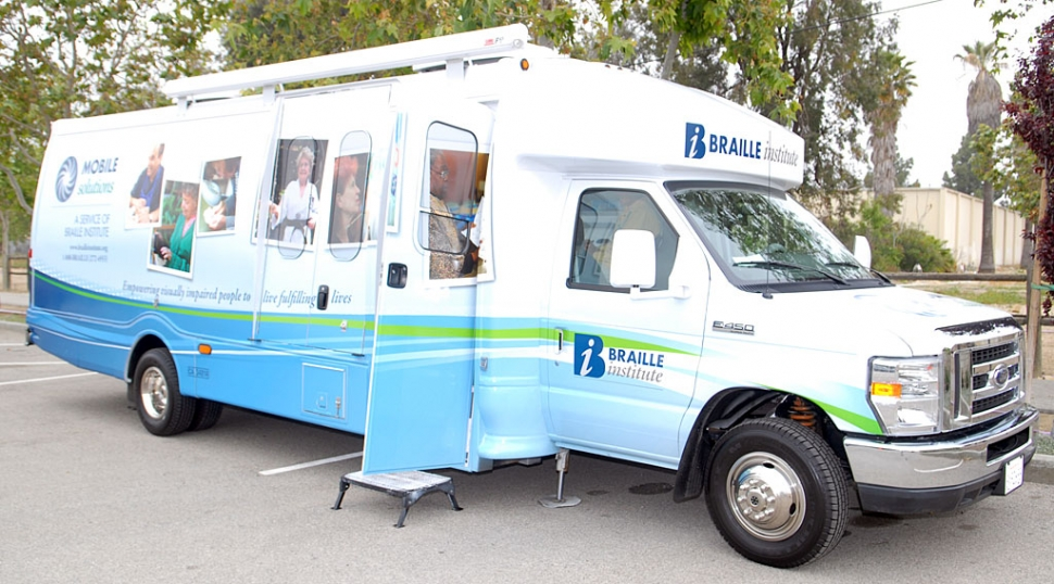 Braille Mobile visited Fillmore Senior Center on Tuesday, April 27th.