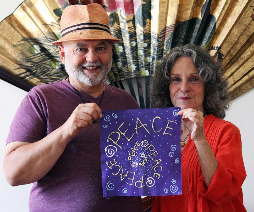 (l-r) Brian Berman and Julie Heyman. Photograph by Ray Powers.
