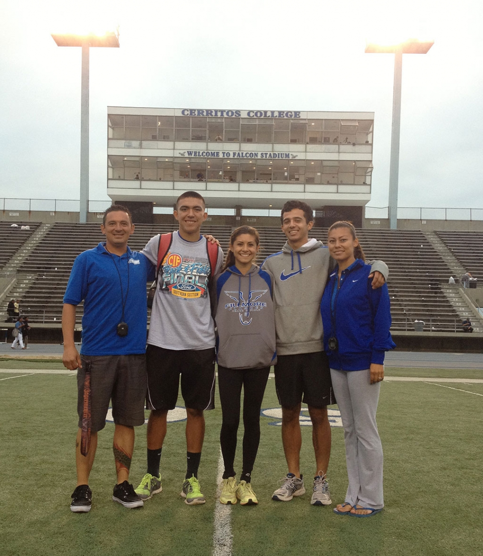 (r-l) Coach Juan Viramontes, Carlos Briceno, Kiana Hope, Jesus Mendoza and Coach Erika Arana. Not pictured Coach Tonya Tafoya and Kayla Grove.