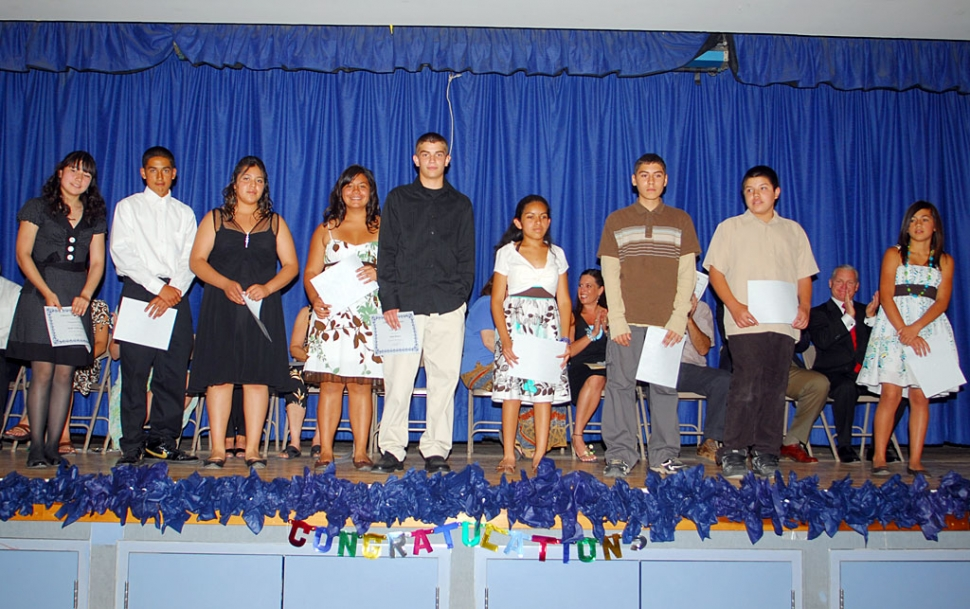 Fillmore Middle School held their graduation ceremony last Thursday. Students pictured above received