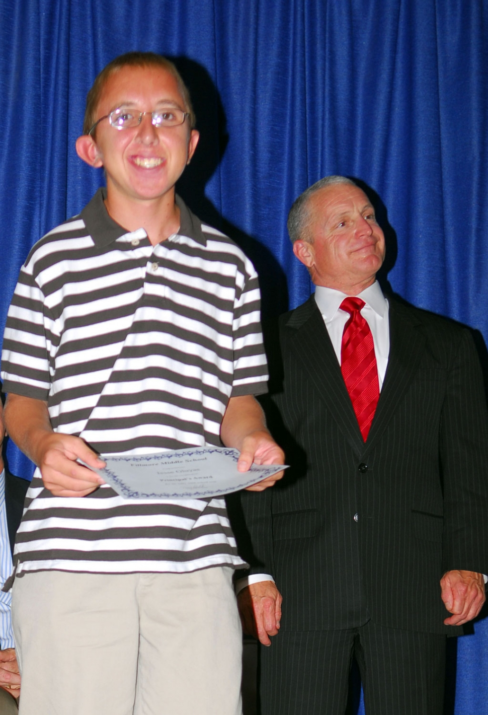 Jesse Gluyas received the Principals Award at Fillmore Middle School.
