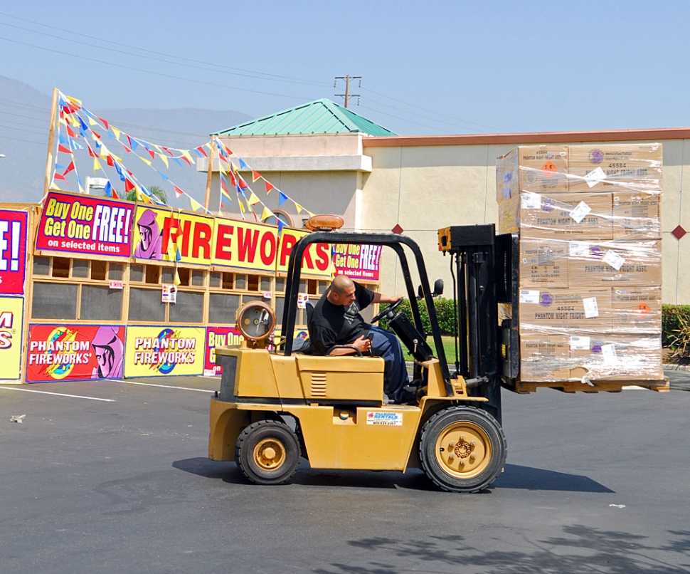 Friday June 27, fireworks were being dropped off at the stands around Fillmore. Sales began on Saturday and will continue until the 4th of July. This year they predict sales will be good considering the holiday falls on a Friday. But the economy might hinder the sale a little.