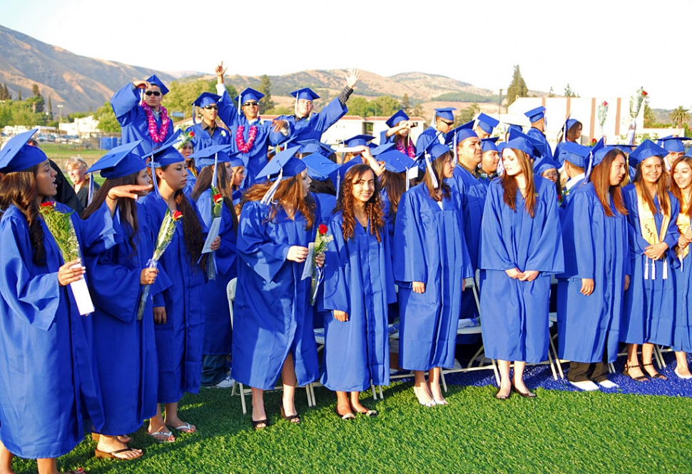 Graduates celebrated during the ceremony.