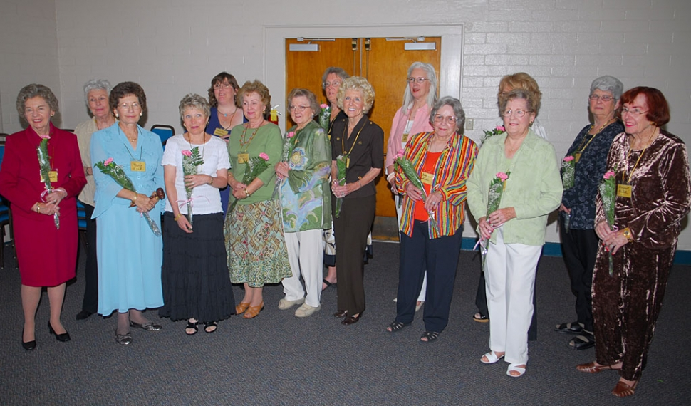 On May 27, Installation Officer, Janet Howarth presented new President Mary Ford; 1st Vice President (Programs) Beverly Brisby and Melodie Stich (Interim); 2nd Vice President (Special Activities), Joyce Schifanelli and Kate O'Brien: 3rd Vice President (membership), Trisha Armstrong; 4th Vice President (Meeting Coordinator), Charlene Smith and Phyllis DeMarco; Recording Secretary, Lavonne Deeter; Corresponding Secretary, Gloria Henderson and Venita Bloxham; Treasurer, Fay Swanson; and Parliamentarian, Janet Howarth, and Outgoing President, Wanda Haynes. During the meeting Fillmore Middle School Band Director Greg Godfrey was presented a check for $1200 for a Baritone Horn.