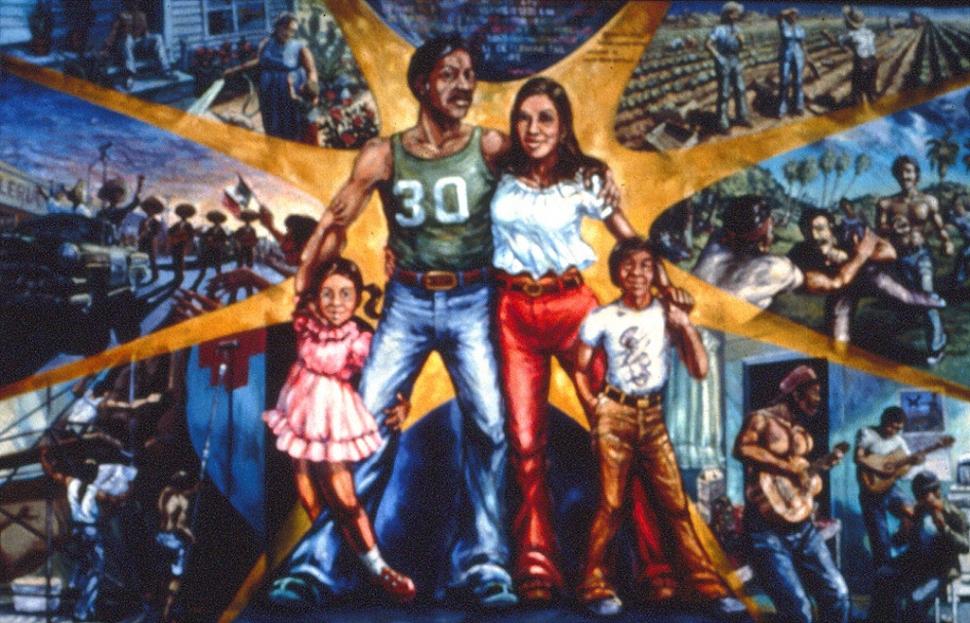 Expert to discuss chicana o art the fillmore gazette for Mural una familia chicana