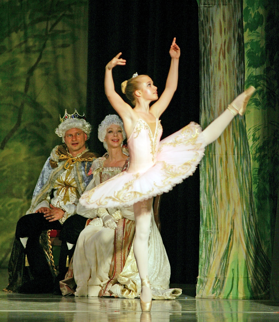 Emily Van Dolah, age 15, performing in All American Ballet's 2008 production of The Sleeping Beauty