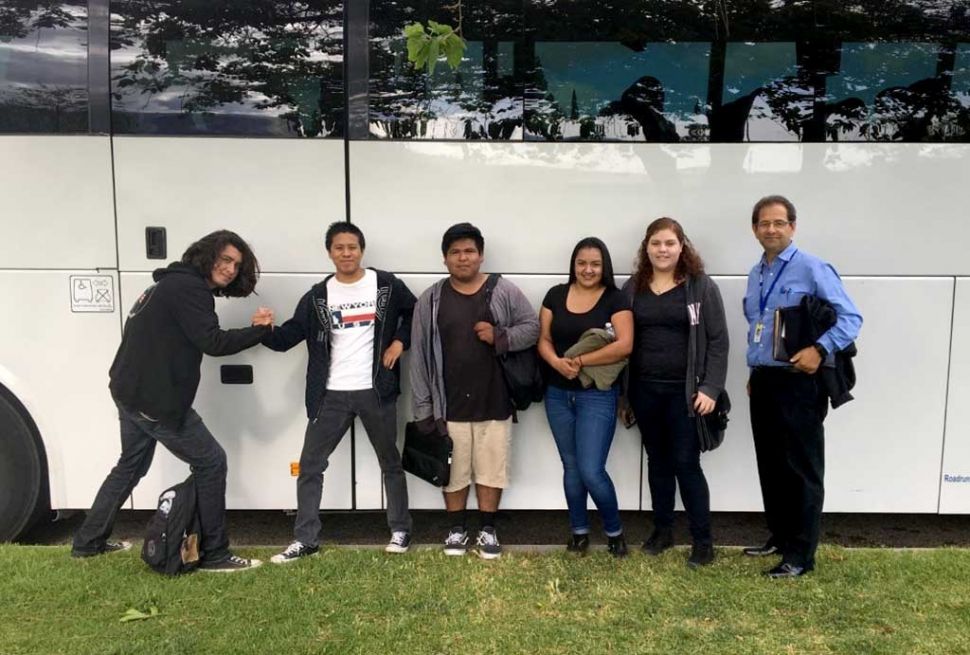 Attending the Entrée to Employment held at California Lutheran University were (l-r) Brandon Nava, Edward Peralta, Luis Arillano, Lupita Villareal, Sarai Vargas, and teacher Bill Chavez.