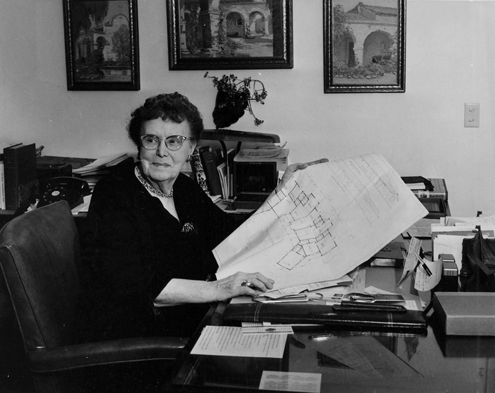 Ethel Percy Andrus at her Ojai Headquarters, Circa 1960