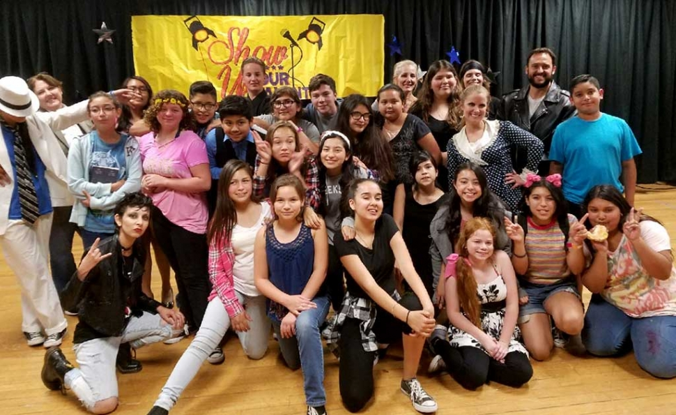 Fillmore Middle School Talent Show 2017 participants. Happy smiles for a show well done!