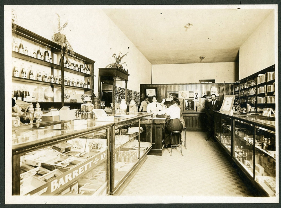 Drug store at the corner of Central Avenue and Ventura street.