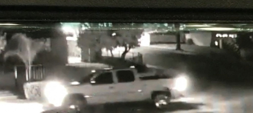 On Sunday, June 14th at 11:49pm, police responded to a hit & run traffic collision involving a pedestrian on Santa Clara and east B Street in Fillmore. Pictured above is surveillance footage of the light-colored pickup truck involved in the collision. Police are asking the community for their help in identifying the driver.