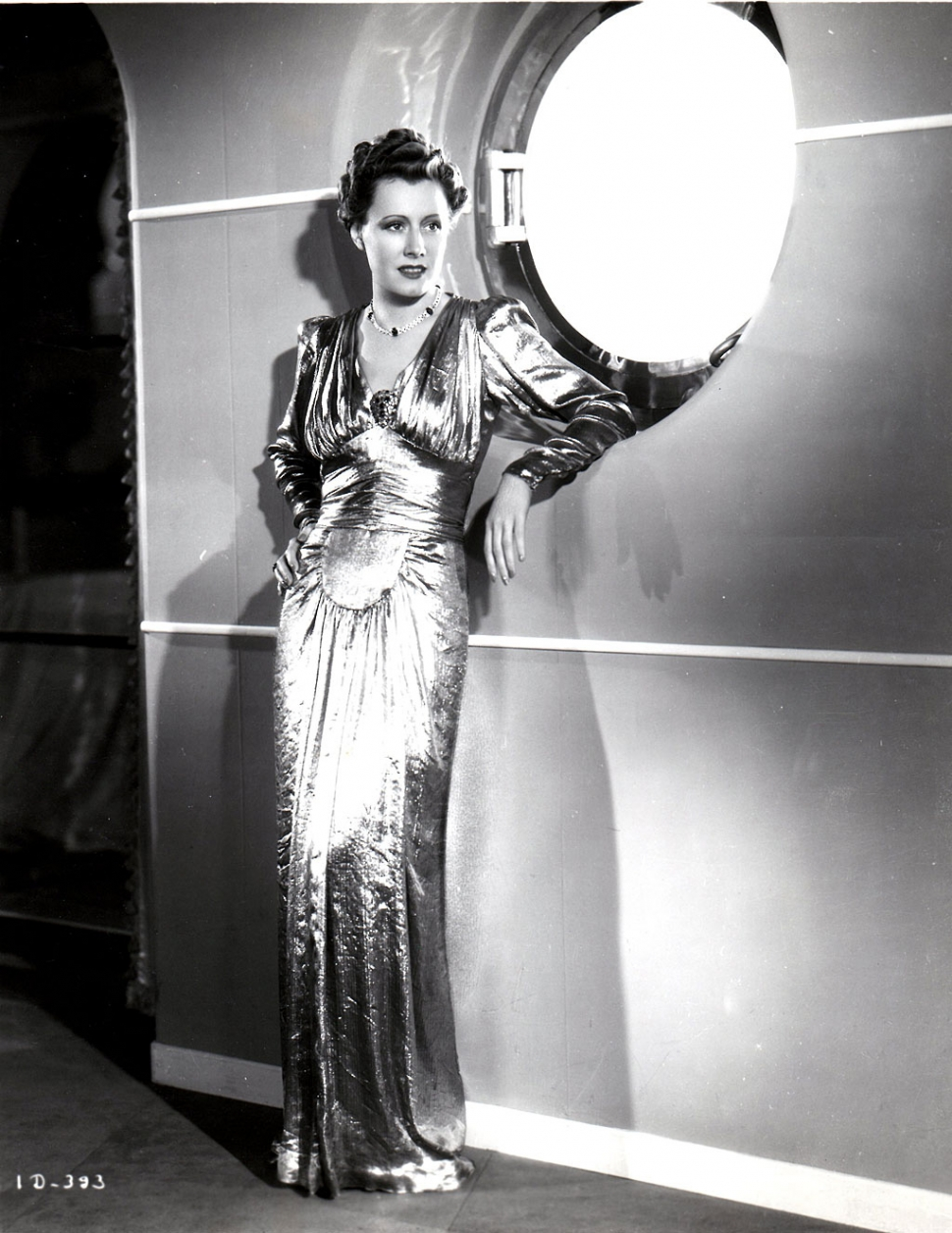 Irene Dunne wearing Greer gown in 1939. Photo by Richard Kelly.