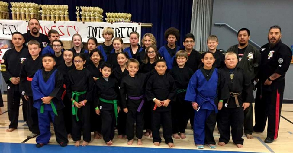20th Annual Karate Tournament was held at Fillmore Middle School on October 8th. Pictured above are Perce's Kenpo Karate students who competed in this years tournament.