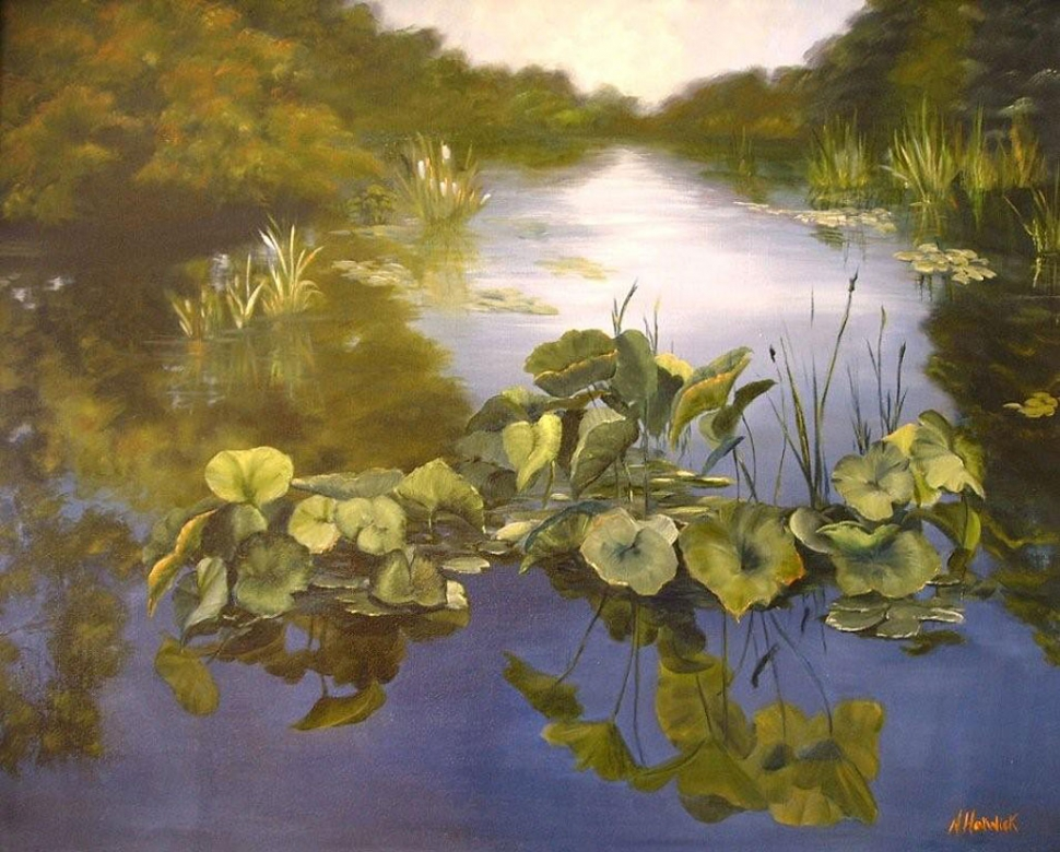 """Lily Pads"" by Nancy Horwick"
