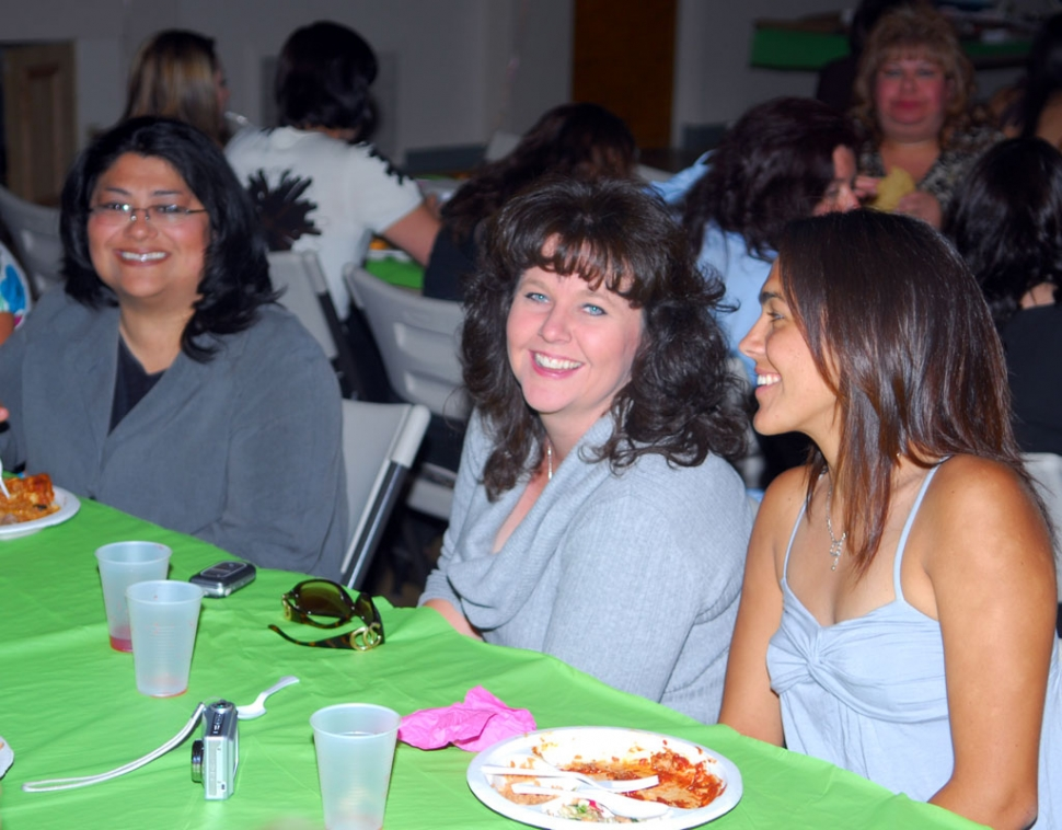 Fillmore High School Mother/Daughter banquet met for its 28th year on May 29th. About one hundred ladies attended. A dozen of the mothers did a dance they had rehearsed for two weeks at the end of the night, surprising their daughters and the audience. Seated (l to r) Stephanie Vasquez, Susan Golson and daughter Tenea.