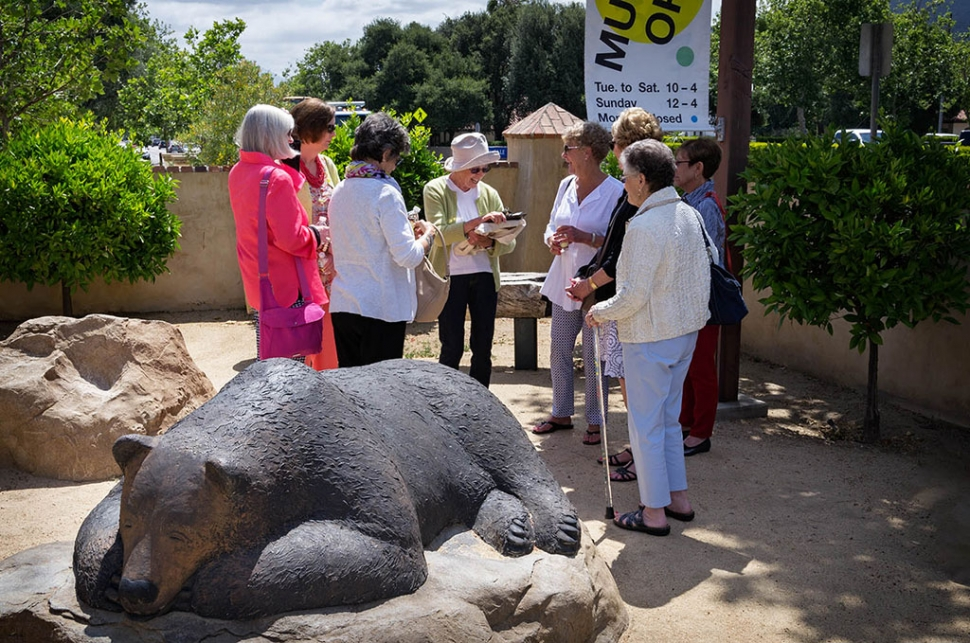 Toledo Art Museum Volunteers Gather for Ojai History Walking Tour. Photo by Les Dublin.