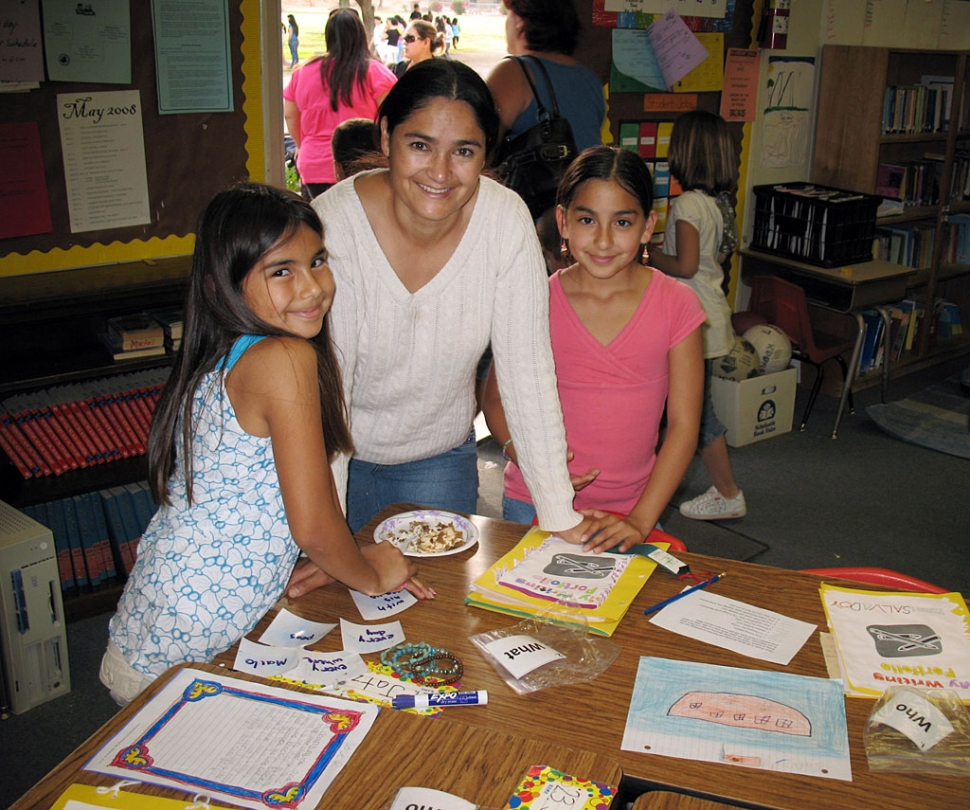 Pictured (l-r) are Jatziri Rangel, with Sonia Rangel, and Natalie Naves display their science project at Piru School's Science Fair last week.