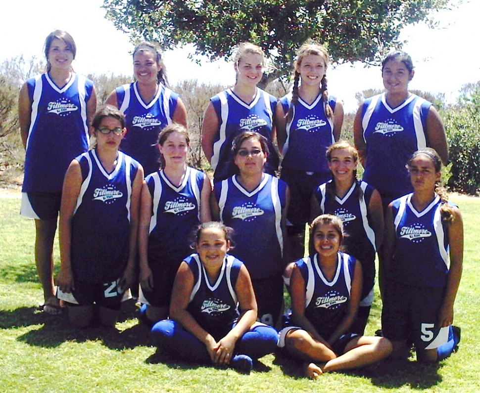 Fillmore 14 & under All Star team  pictured from Left to right top row - Rebecca Vassaur, Amanda Vassaur, Candace Stines, Roxie Neal, Mary Ortiz. Middle row - Jaynessa Lopez, Kaylee Hinklin , Rachelle ' Chellie ' Arreguin , Ana 'Speedy' Morino, Krystine Mohrhoff. Bottom row-Megan Herrera, and Vanessa Urrea . Not pictured - Reina Magana. The 14& under Fillmore All star team played 4 tournaments on the road to the California State Games on July 11th, 2008 . The hard working athletes finished in 3rd place in three pre-qualifying tourneys, and in 4th place in the western district qualifier, and finally ending a successful season in 4th place in the Ca. State Regional Championships on July 13th , 2008 .  The girls wish to express their thanks and appreciation first to their Manager , Ernie Ortiz, and Coaches, Bill Vassaur, and Bill Herrera, and lastly but most importantly to their families for all the cheering and support throughout the season.