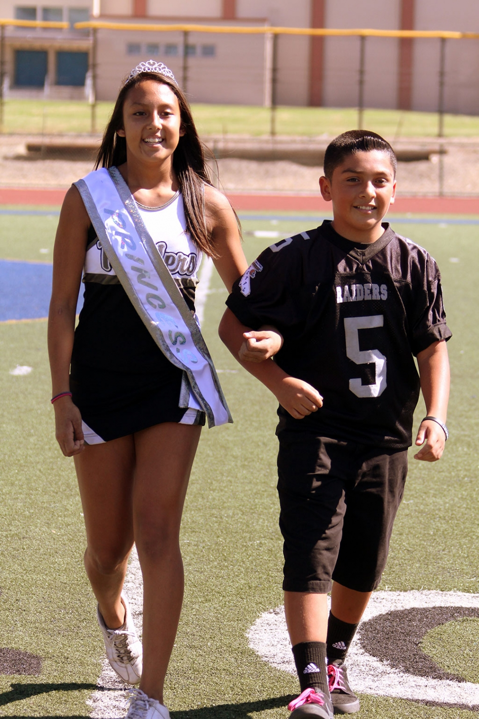 Homecoming Princess 1 and her escort