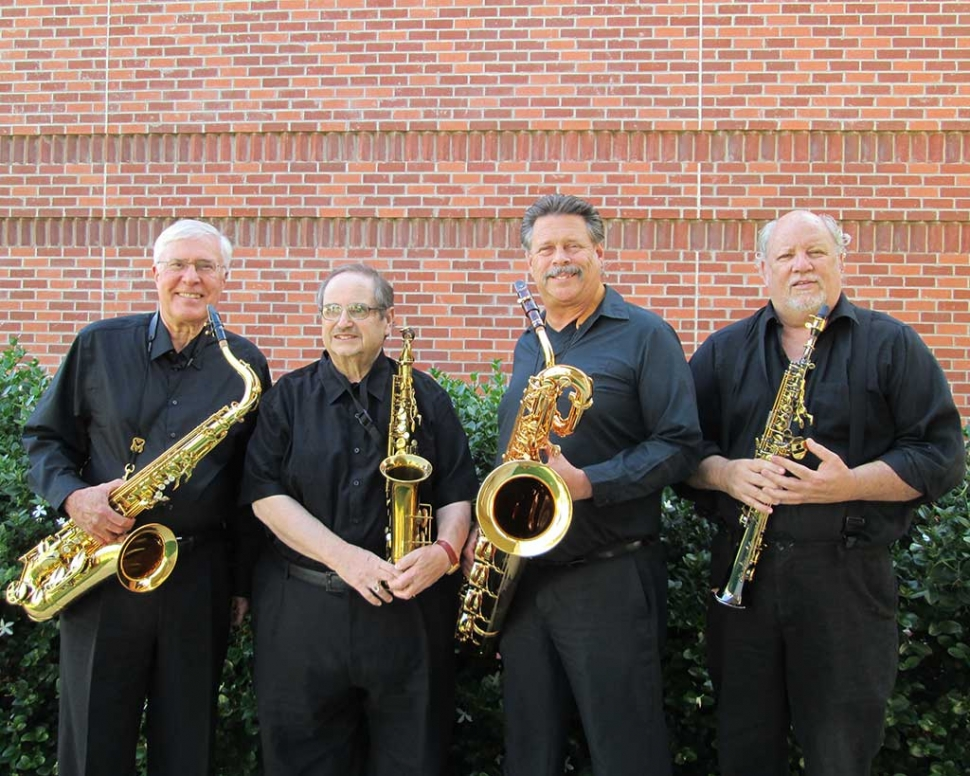Saxomania. (l-r) Daniel Geeting, Don Nardone, Patrick Ingram and Richard Bunter.