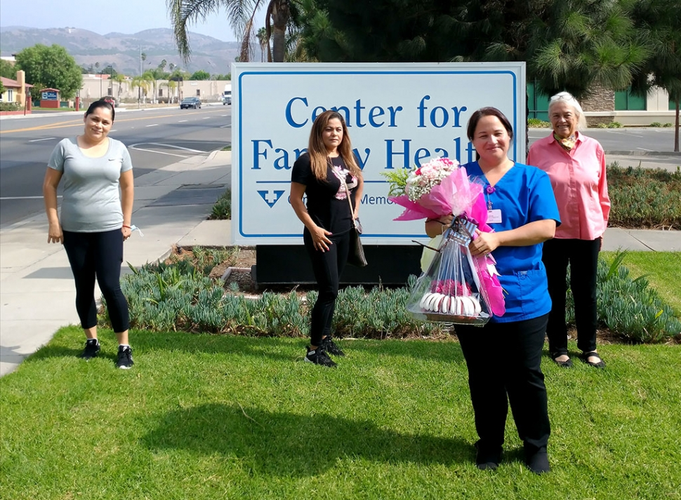 Sendi Sanchez, a Nurse Practitioner at the Fillmore Family Medical Group, received a cake and flowers in recognition by her patients and their relatives of patients for her deep dedication to the needs of her clients in Fillmore and Piru. Thank you Sendi!