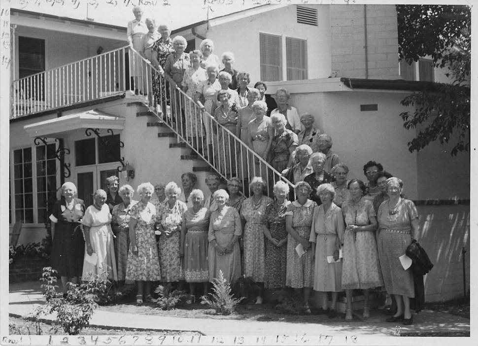 First Grey Gables Residents - Residents of Grey Gables were committed to Dr. Andrus's vision of the older years as a time of growth and service to others. Photo courtesy of Archives of The Gables of Ojai.