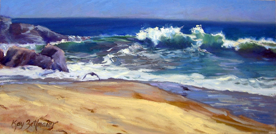"""Shore Break"" oil on canvas by Kay Zetlmaier"