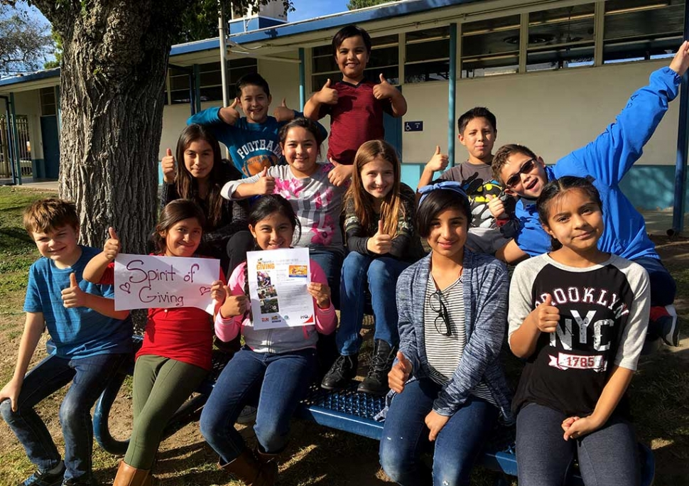 "San Cayetano ASB Students are ready to kick off their ""Spirit of Giving"" Canned Food Drive."